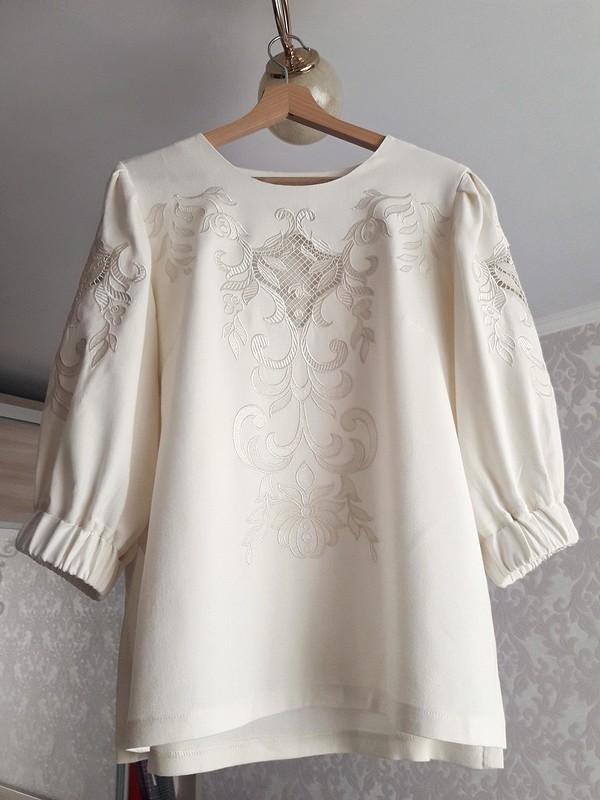 Блуза свышивкой ришелье от Elena Sharunina