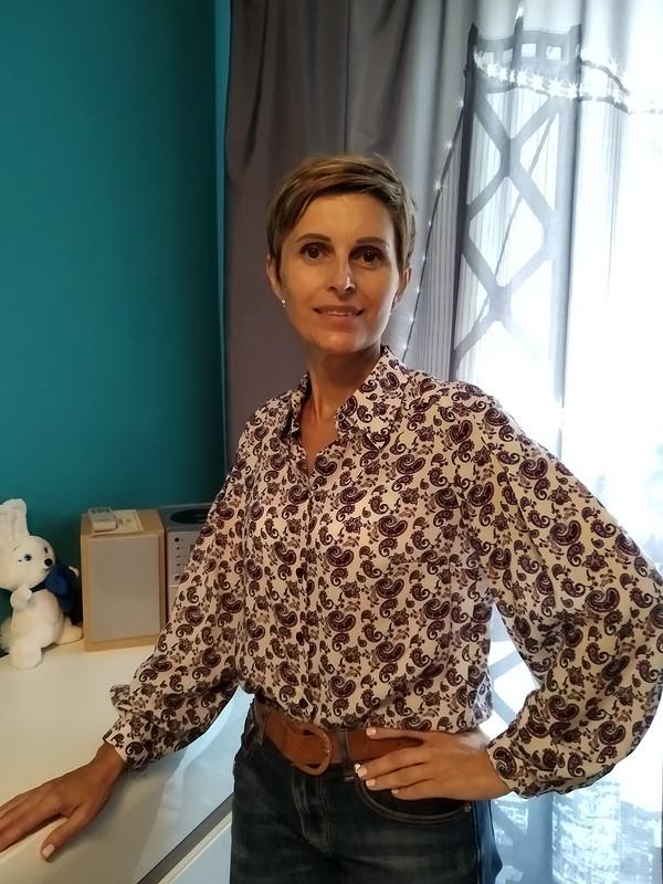 Легкая блузка сэффектным рукавом от konon0506
