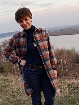 Работа с названием Летнее пальто-рубашка из фланели