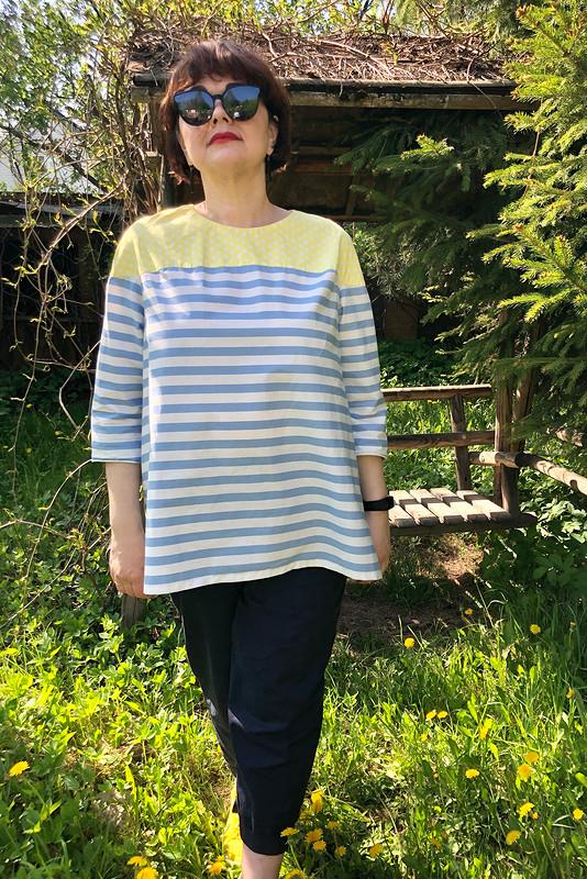 Полосатый пуловер от Zulfiya72