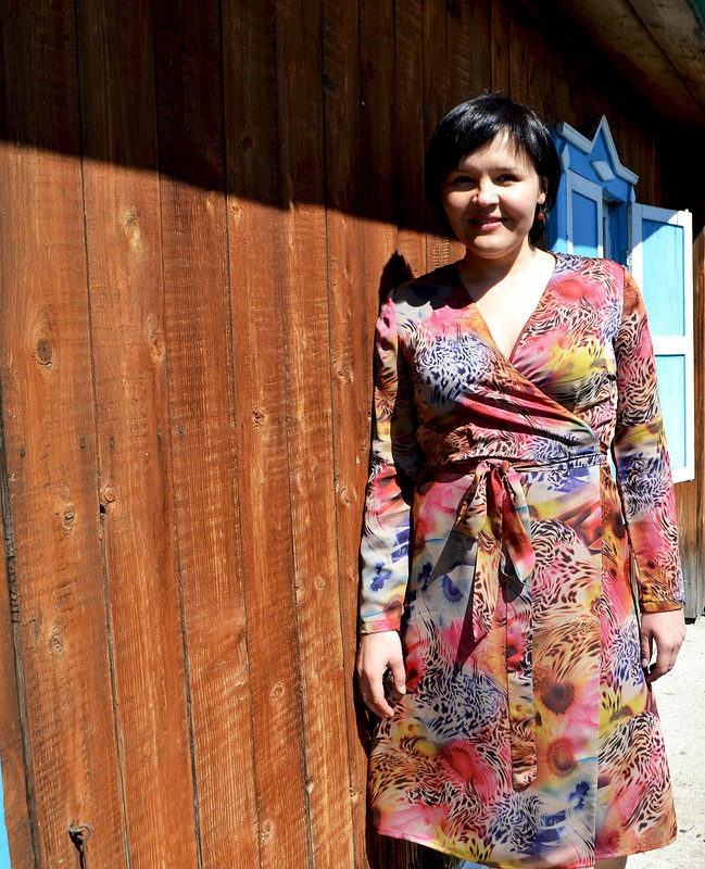 Платье спсиходелическим принтом от Любаева Светлана