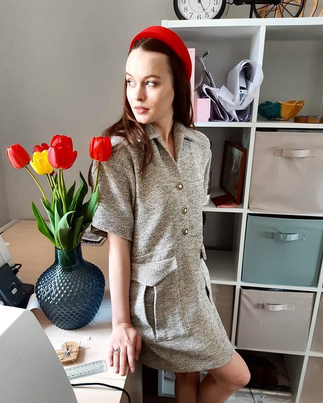 Платье, вдохновленное показом Шанель весна-лето 2019 от Dasha_Sineva
