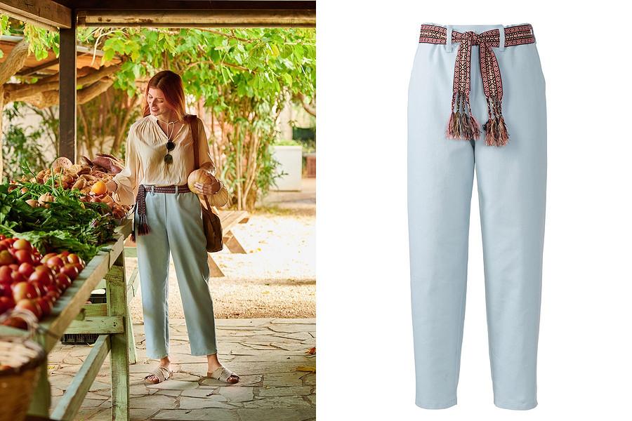 Выкройка месяца: удобные летние брюки излегкого денима