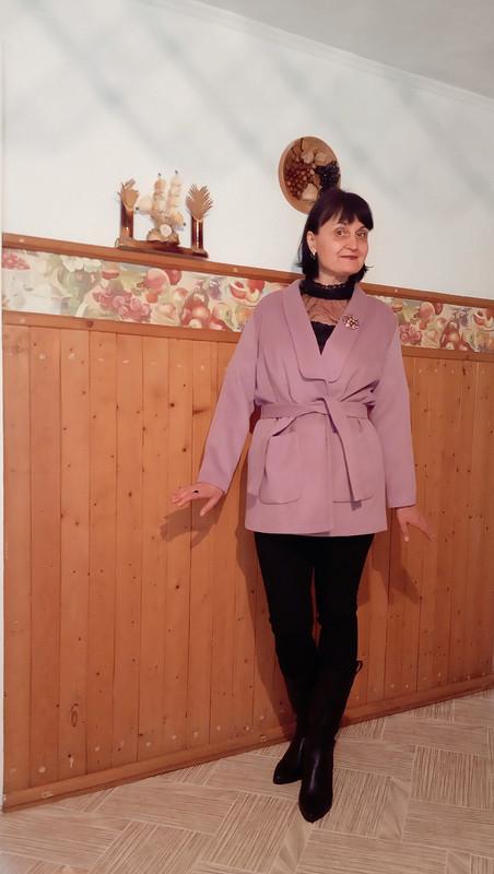 Жакет - полупальто врозовом цвете от Ольга Найкова