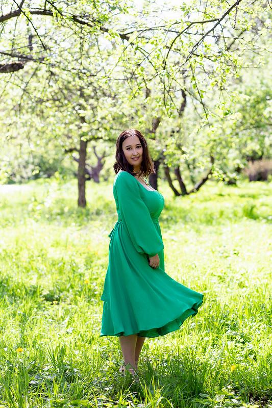 Платье вмодном цвете от RiRi1990