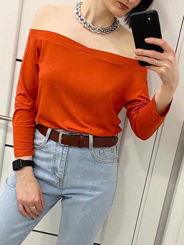 Оранжевый лонгслив от GipsySh