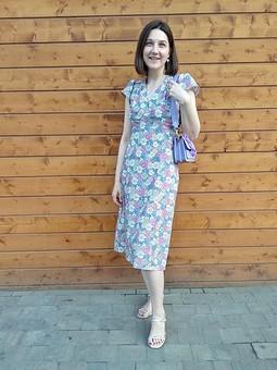 Работа с названием Цветочное ретро-платье