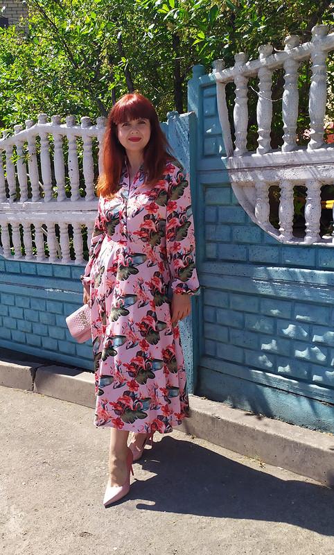 Платье «Огненный фламинго» от Елена Мамонтова