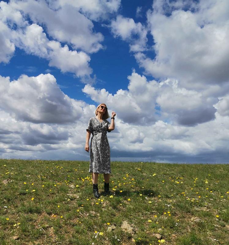 Платье сэффектом запаха от larisa_krasnokamensk