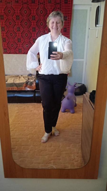 Блузка «С кожанной юбкой было бы лучше...» от 8alentina