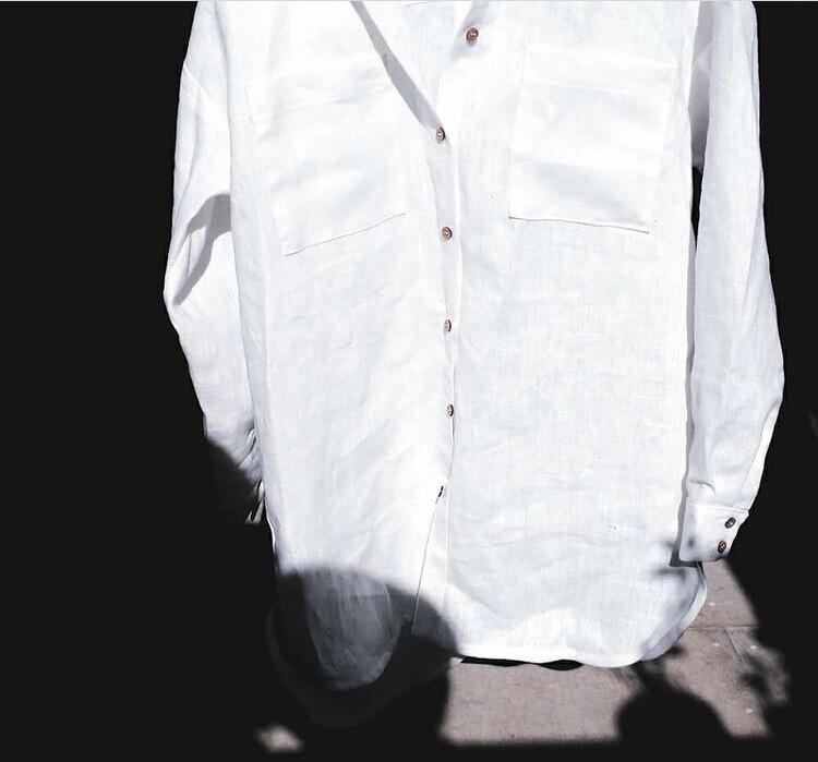 Рубашка со спущенной линией плеча от Alinus