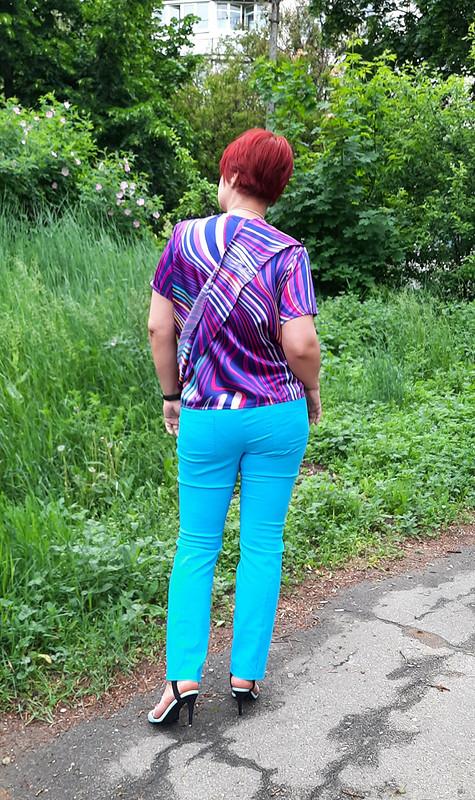 Блузка «Буйство красок», модель 111 из6/21 от marsellin