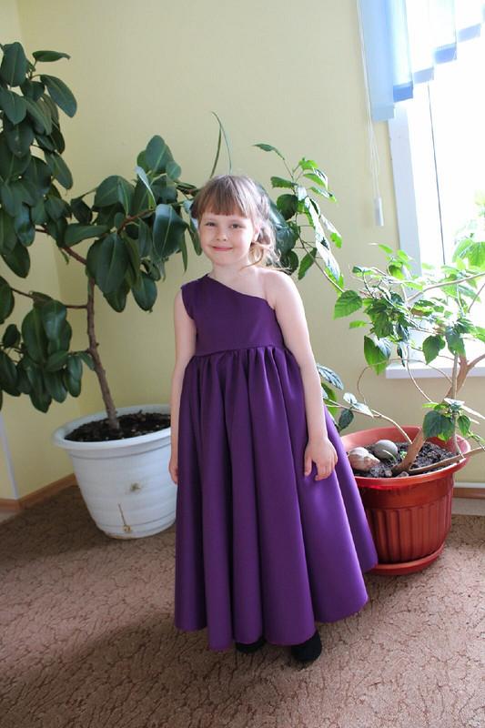 Сливовое платье навыпускной от Asami