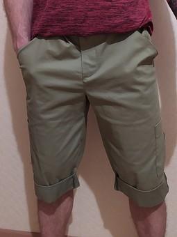 Работа с названием Брюки превращаются в элегантные шорты