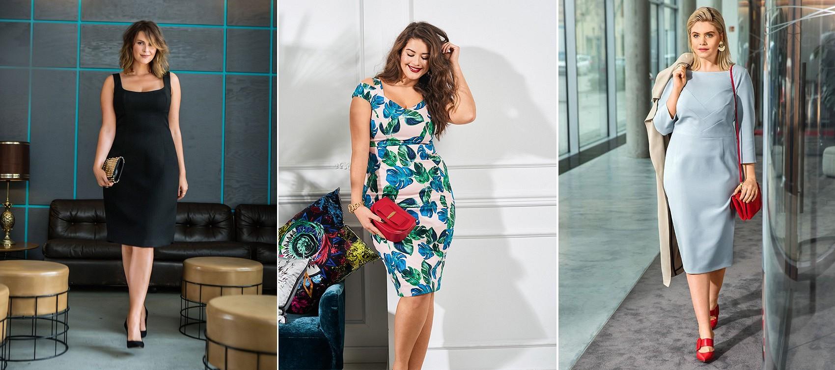 Платье-футляр дляполных: 18 удачных выкроек отBurda