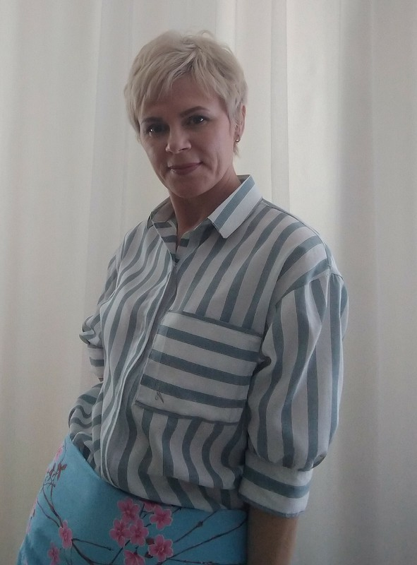 Рубашка вполоску от Наташа