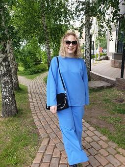 Работа с названием Весенне-летний костюм из голубого футера 2-х нитки