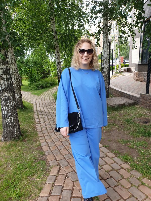 Весенне-летний костюм изголубого футера 2-х нитки от Nstjur
