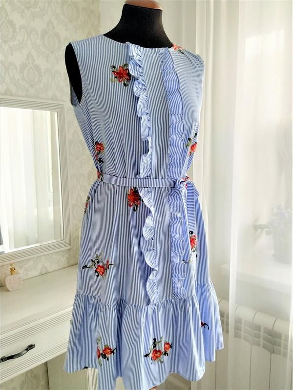 Платье вполоску свышивкой от Dream.Dress.tlt