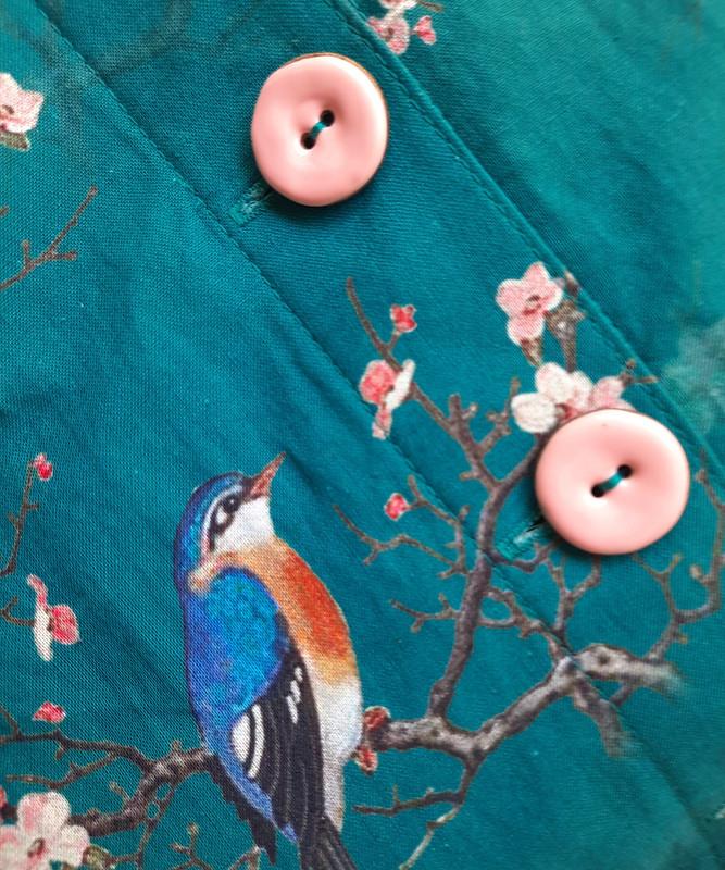 Платье сптицами от Юлия Мигун