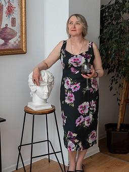 Работа с названием Красивое платье для мамы в стиле Dolce&Gabbana