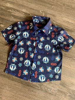 Работа с названием Рубашка для сына из поплина