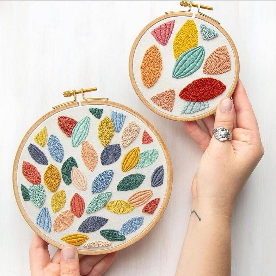 Вышивка слюбовью кнежным сочетаниям цветов: рукодельный instagram недели