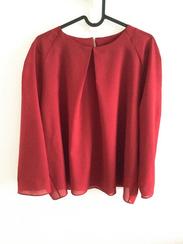Блузка изкрепдешина «Красное вино» от Ирина Мур