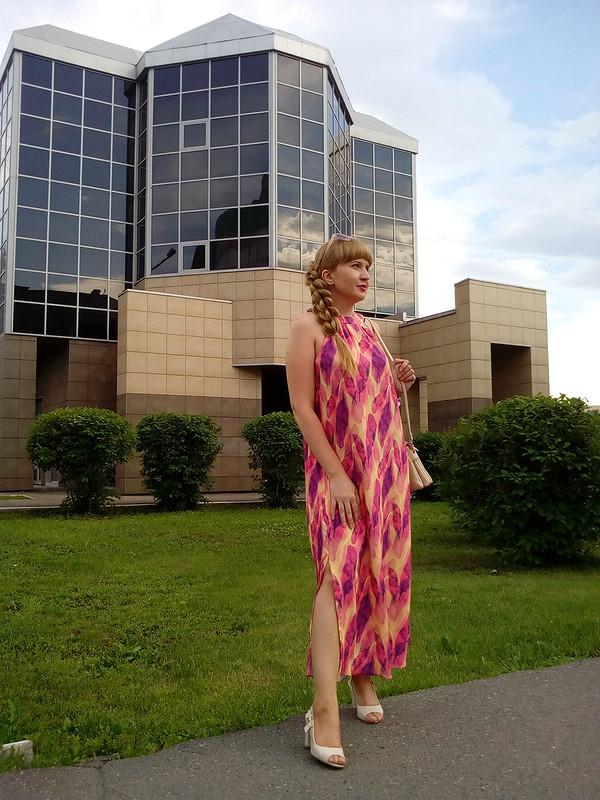 Платье «Перья». Американская пройма от MilAnna
