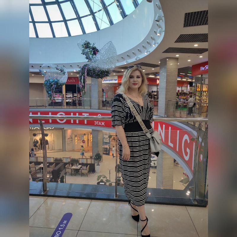 «Полосатый рейс» - платье изткани «фестоны» от MarSel