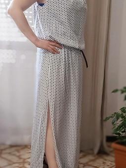 Работа с названием  Длинное платье