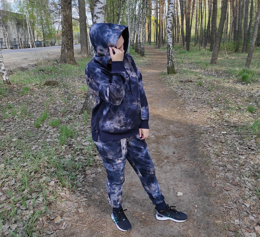 Спортивный костюм втехнике тай-дай от Nadin