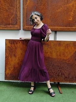 Работа с названием Платье с буфами
