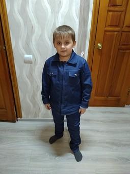 Работа с названием Джинсовая куртка для сына
