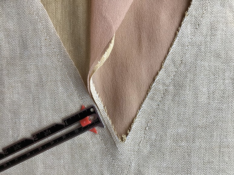 Без обтачки: обработка V-образного выреза