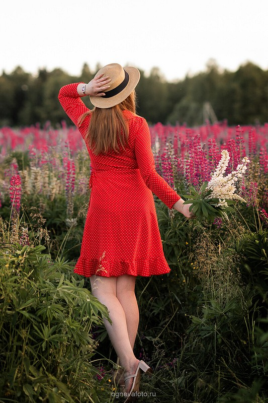 Красное платье вгорошек от Ксения Огнева