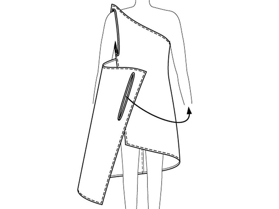 Пляжное платье соткрытой спиной безвыкройки