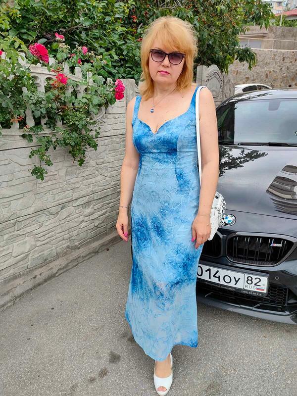 Голубое  платье от Татьяна Славинская