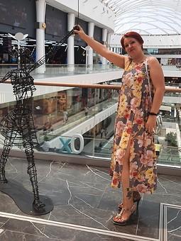 Работа с названием Июльское платье превратилось в сарафан