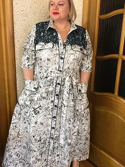 Работа с названием Из блузки платье
