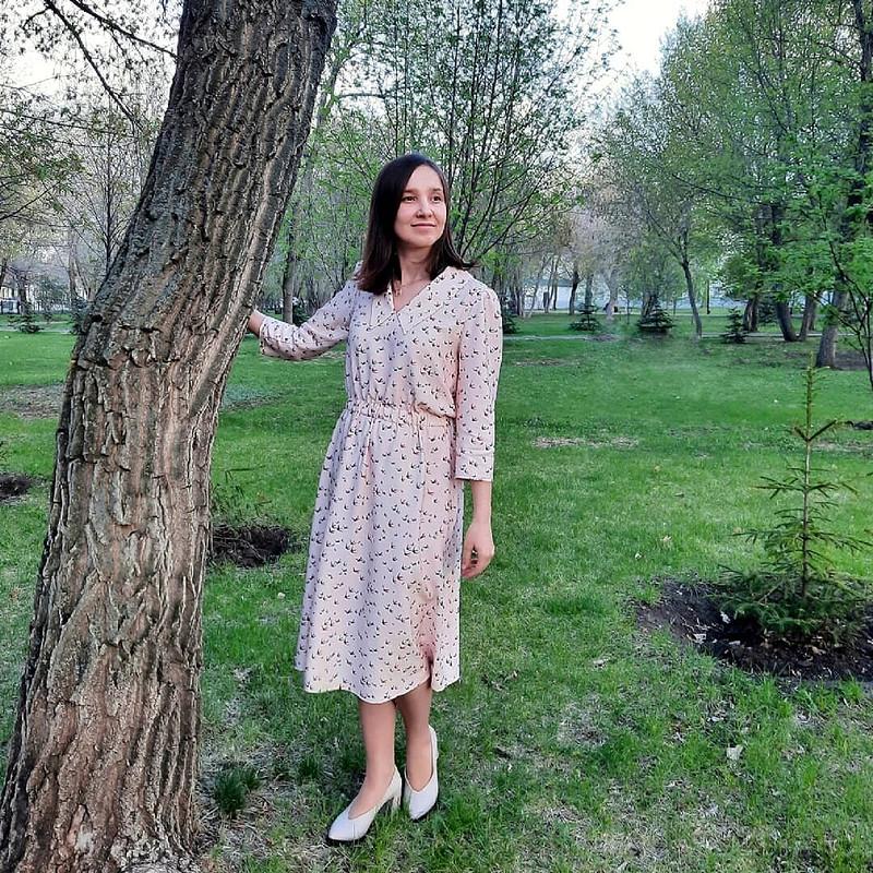 Платье сптичками от Tata
