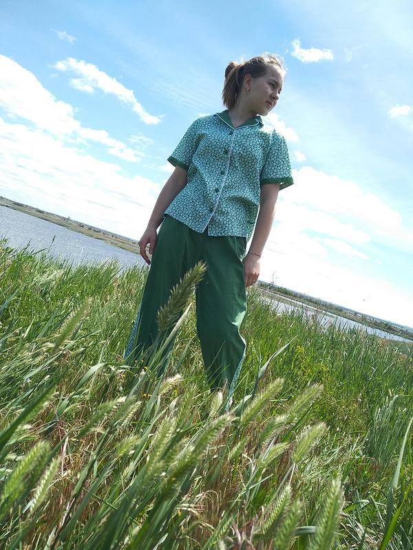Блузка «Зелененький он был...» от NataliSh
