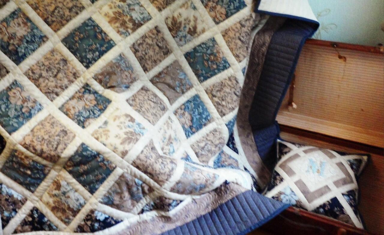 Лоскутное одеяло «Свидание» от Тётушка Осока
