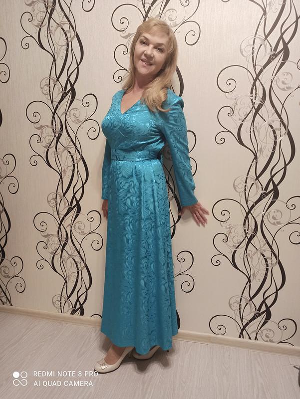 Нарядное бирюзовое платье от Светлана Колганова