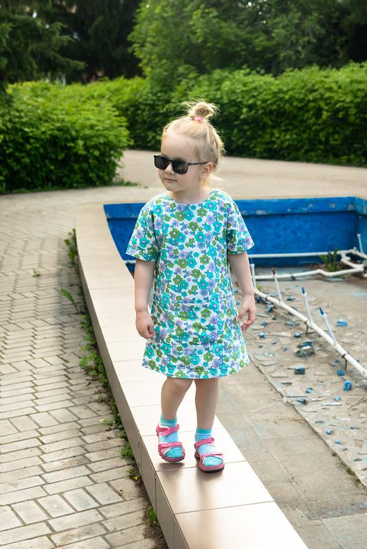 Платье изхлопка «Мятная малышка» от Ирина Мур