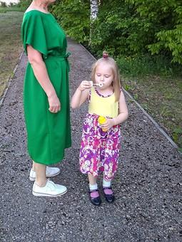 Работа с названием Платье для летних прогулок