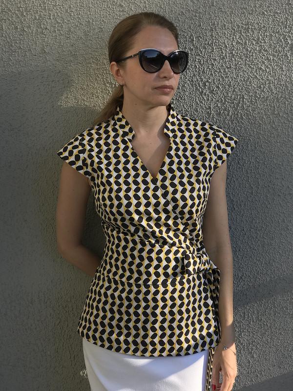 Блузка своротником «Мао» от Марина Князева