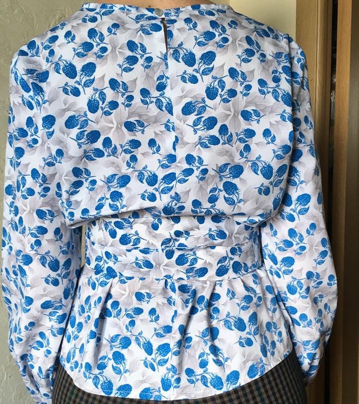 Блузка 112 изБурда 09/2018 от reptdfyjdf