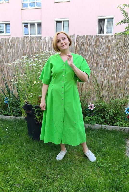 Платье, травка зеленеет от Миадель