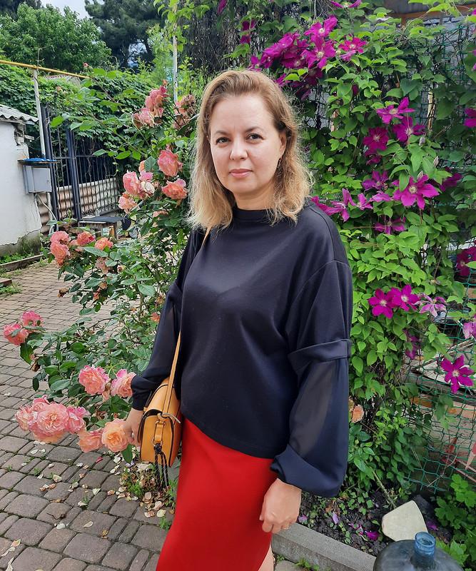 Свитшот а ля блузка от Юлия Мигун